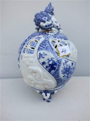 Chinese Blue and White Porcelain 2 pc vase