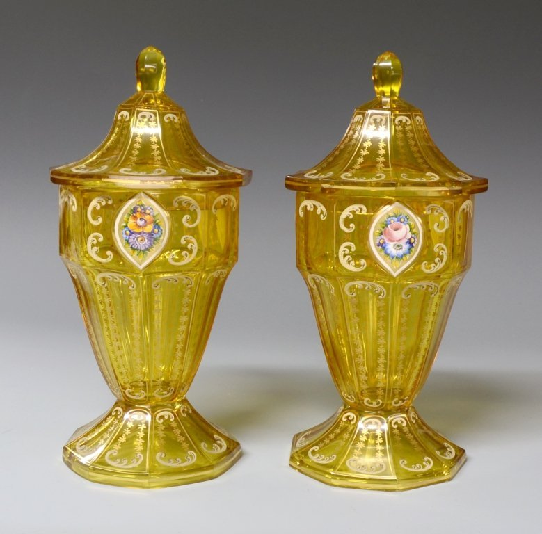6: Pair of Covered Vases