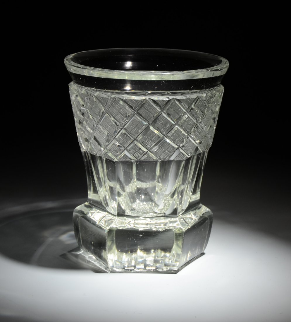 19: Clear Cut Glass Beaker
