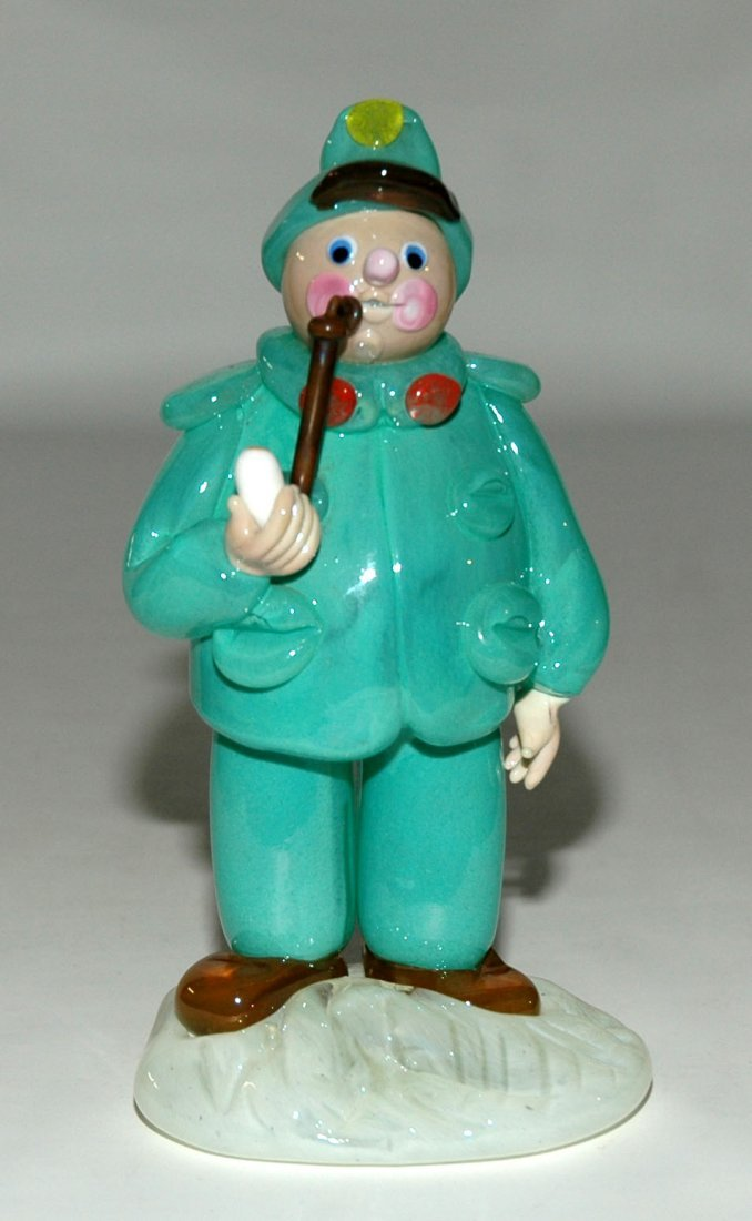 5: Czech Glass Figure Man with Pipe
