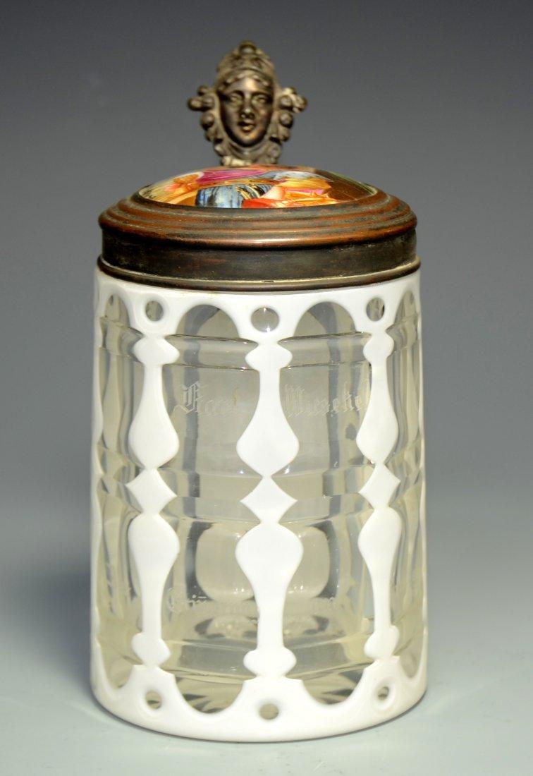 Overlay Glass Stein
