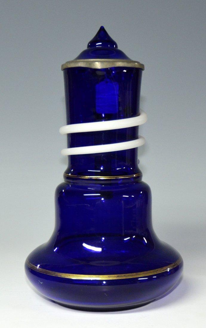 Colbalt Blue Glass Stein