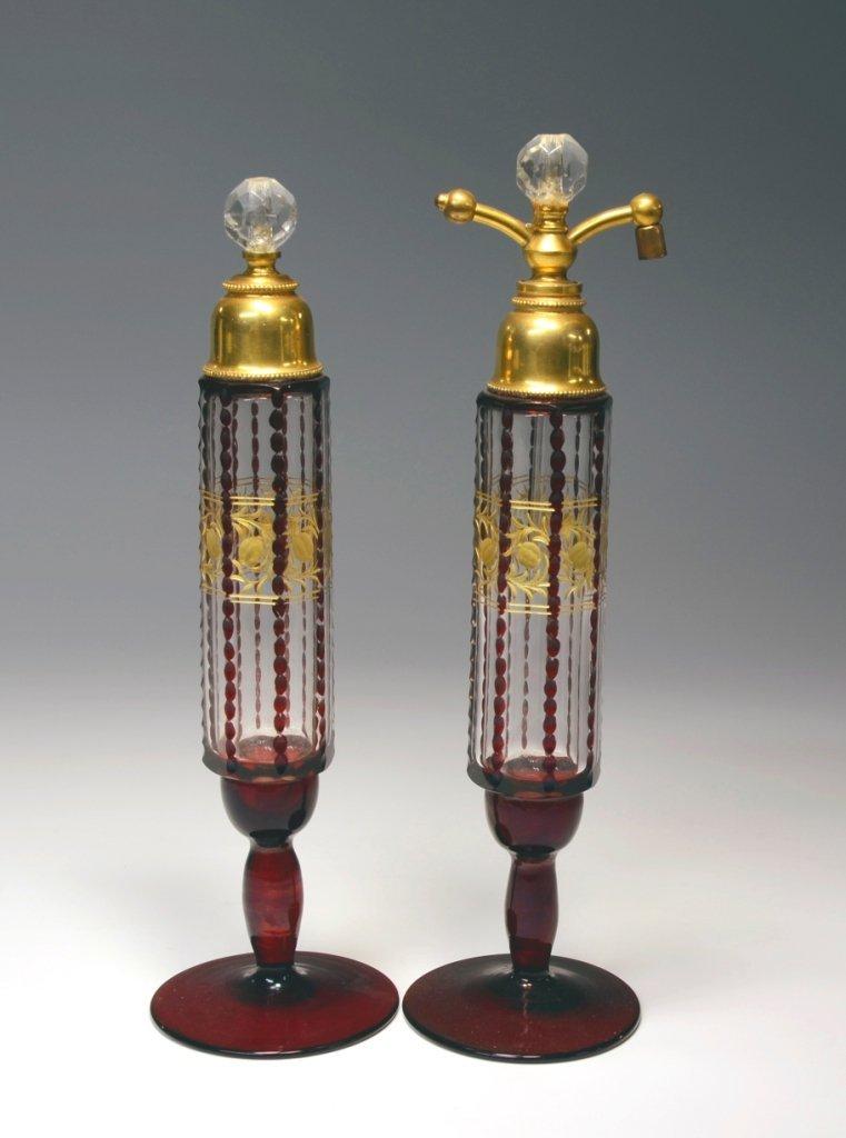 Ruby Stain Bohemian Atomizer & Perfume Bottle