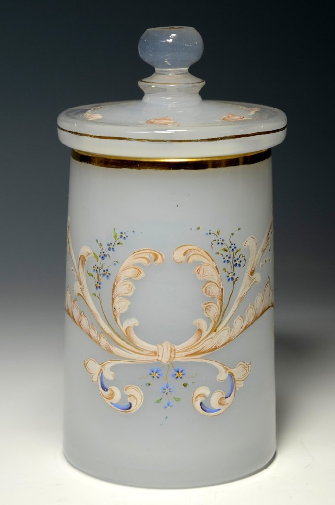 White Opal Glass Stein