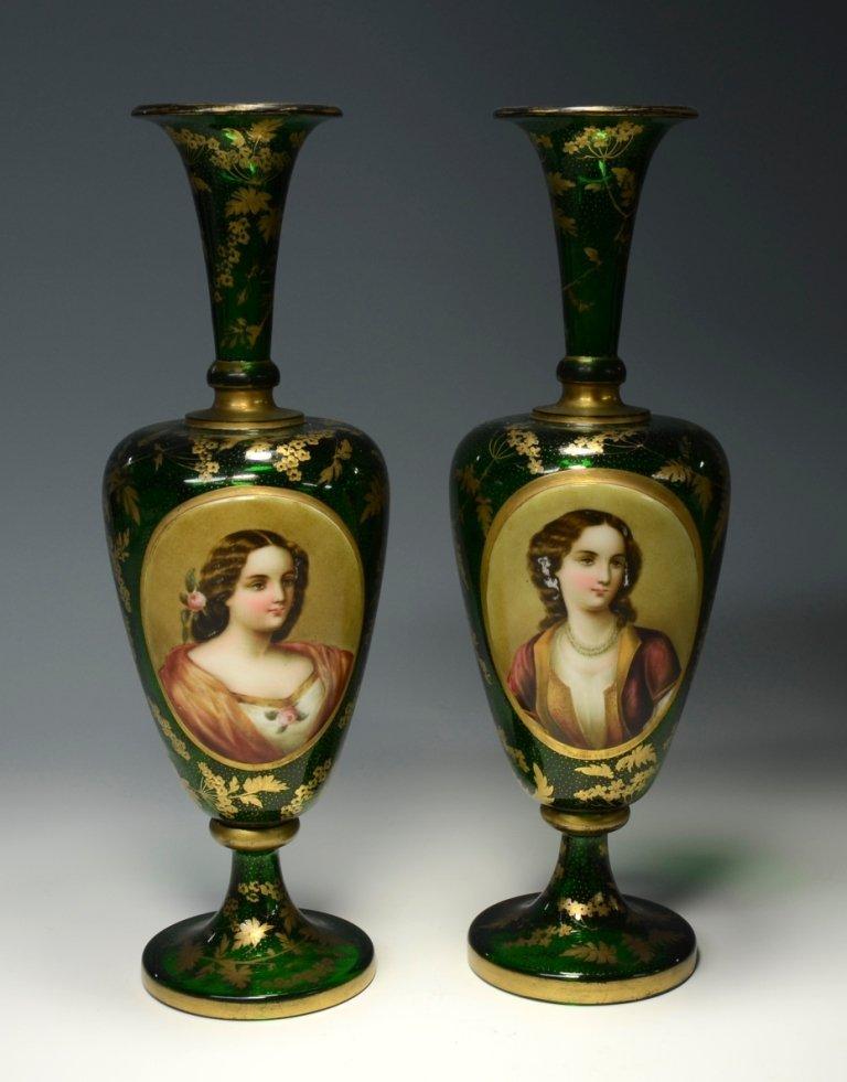 Double Overlay Portrait Vases