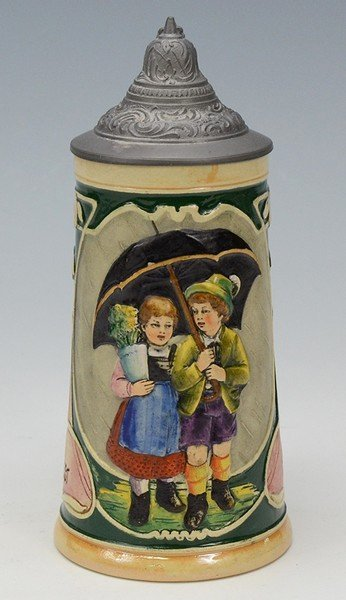 Pottery Relief Stein