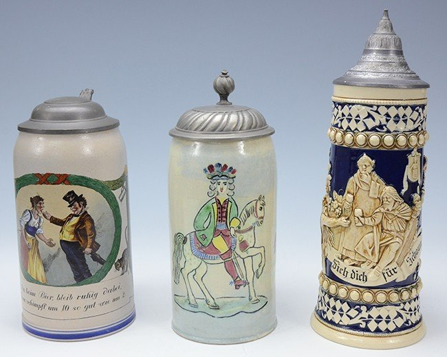 Group of 3 Steins