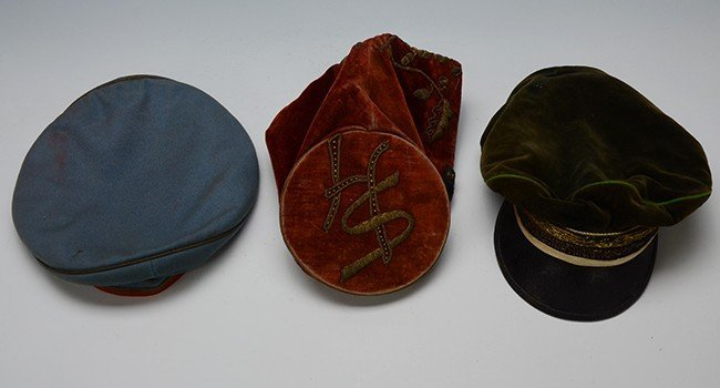 Group of 3 Student Felt Hats