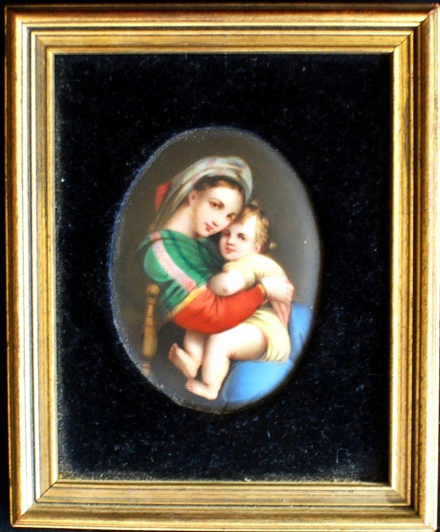 24: Miniature portrait on porcelain