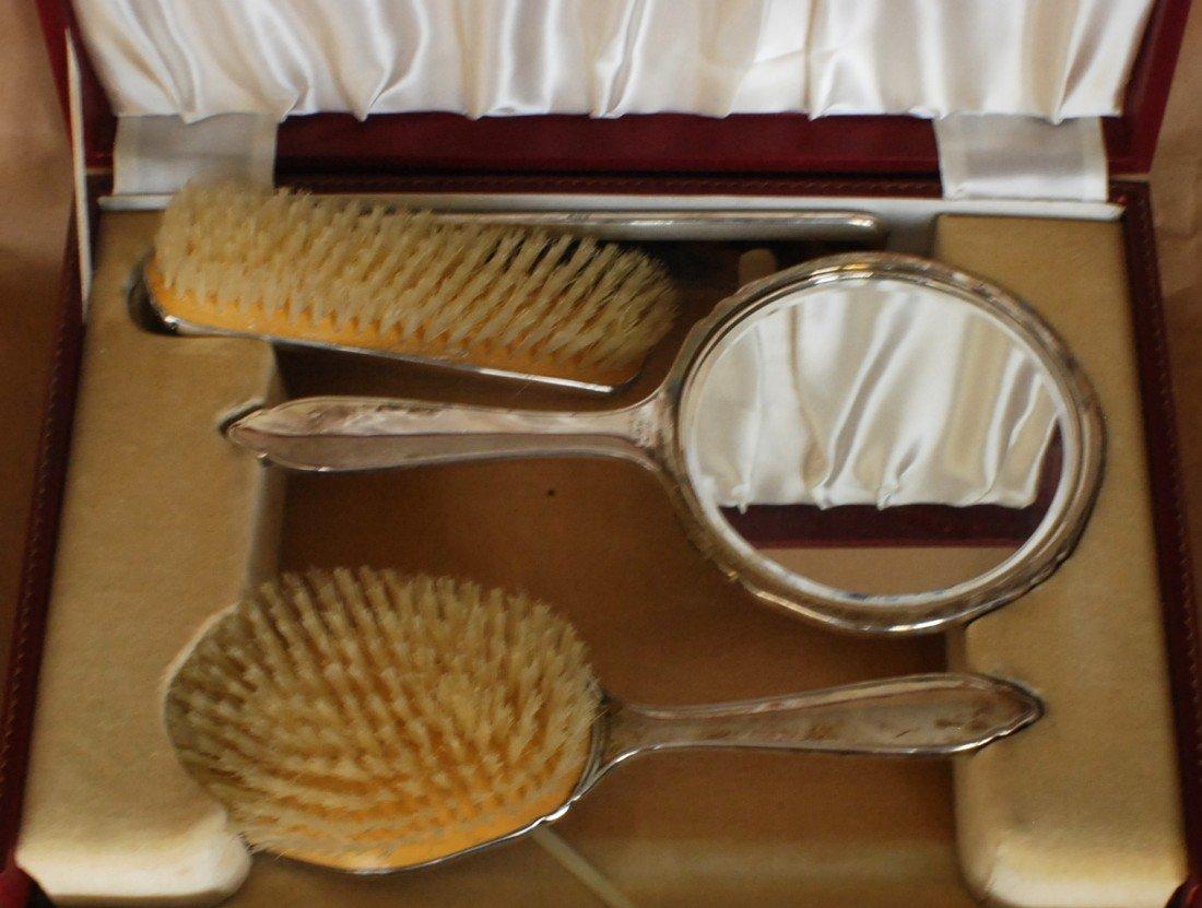 122: Sterling Silver 4 pcs Vanity set in original box - 9