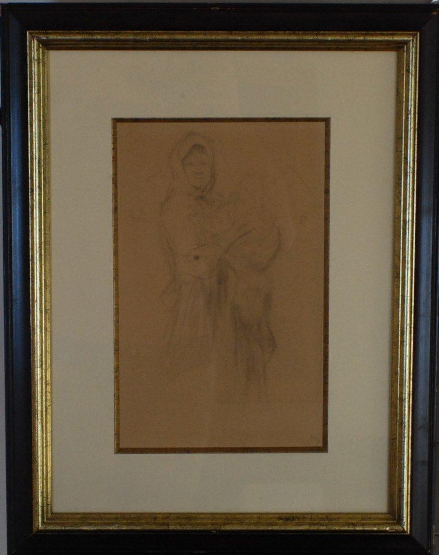 """9: Philip Maliavin (1869-1940) """"Peasant Woman and Child"""