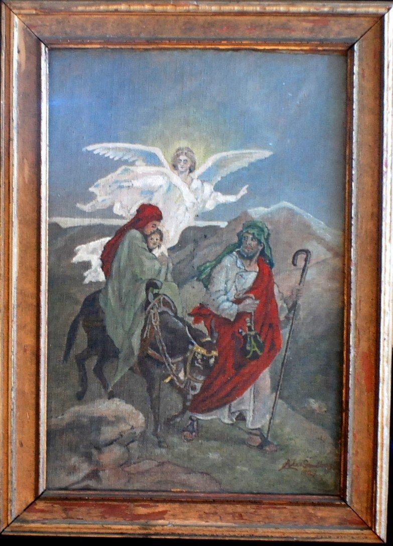 16: 1927 Alex Sandberg Religeous painting