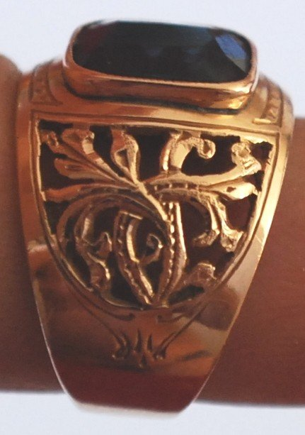 4: USSR 583 (14K) Gold Ring, size 7