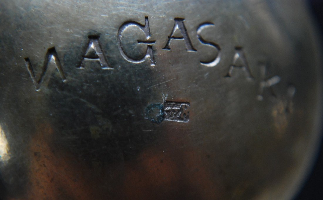 "122: 84 Silver Spoon, engraved ""Nagasaki"" - 8"