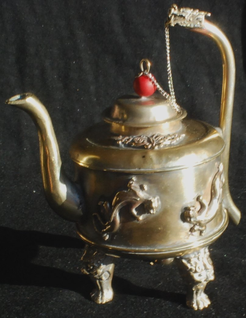 4: 1800's Oriental Silver Teapot