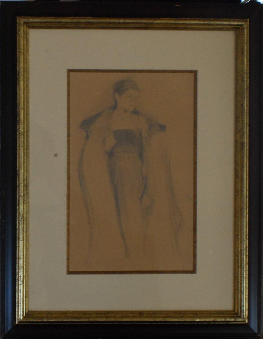 "10: Philip Maliavin (1869-1940) ""Standing Woman"", graph"