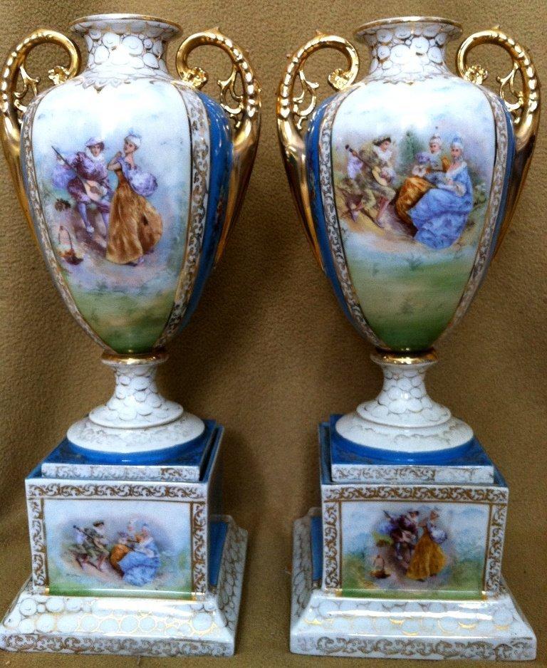 2: Royal Vienna transfer vases