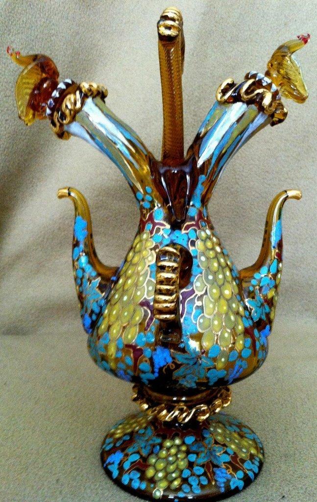 13: Venetian glass wine pitcher
