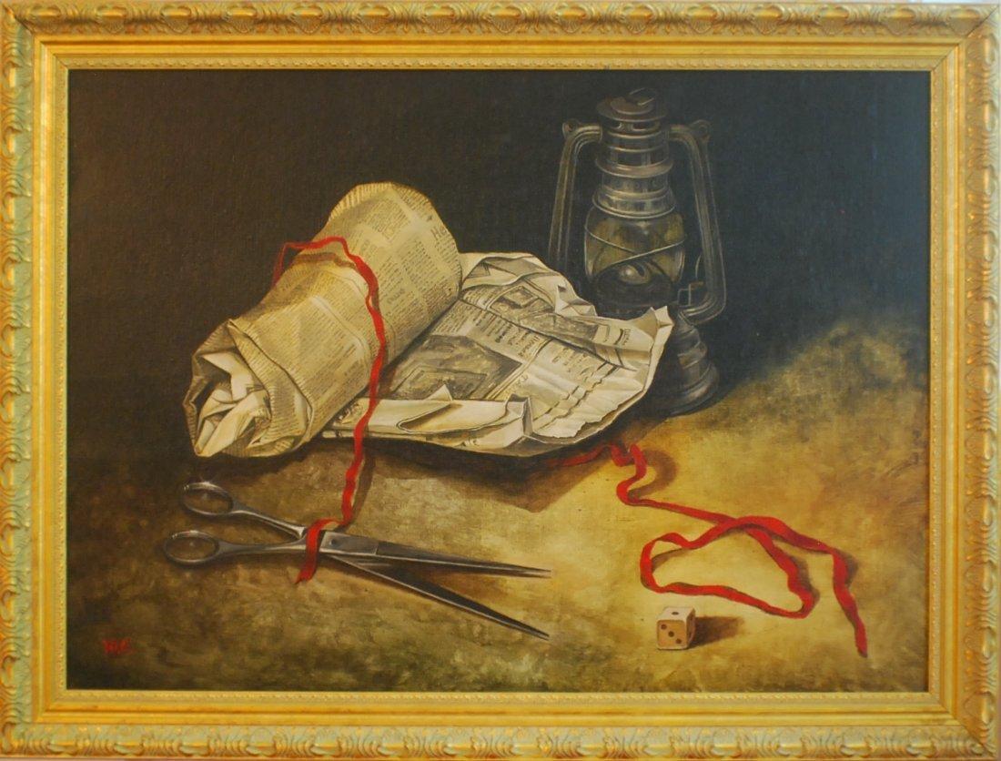 """23: Yuri Solovei (Russian/German, b. 1949) """"Stillife"""" O"""