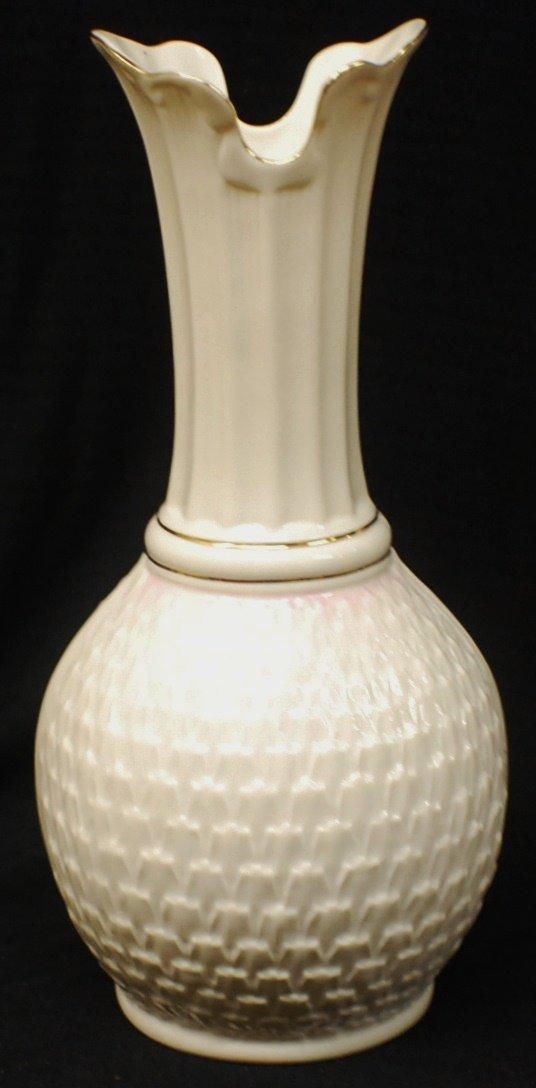 8: Belleek (Ireland) Porcelain vase
