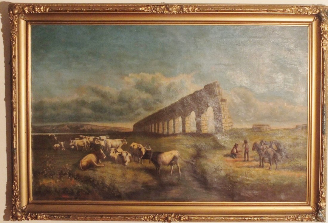 23: James T. Breen  (19/20th century) Large oil on canv
