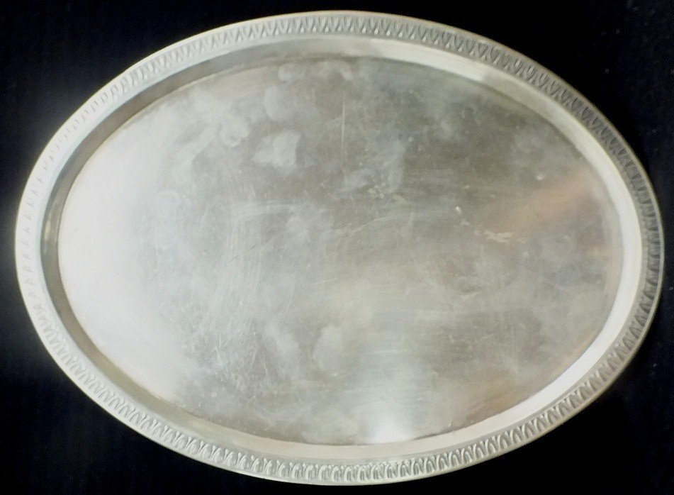 154: Sterling Silver oval tray