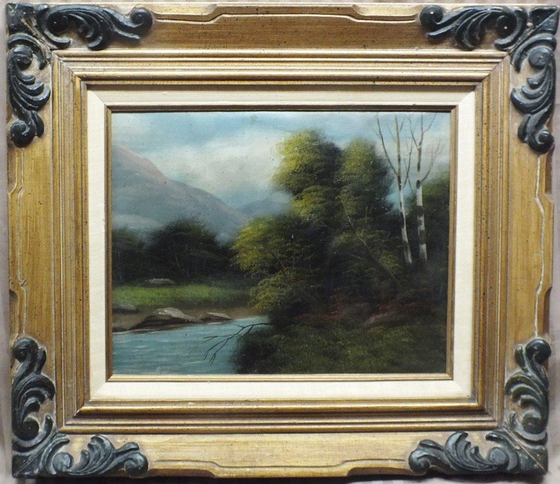 6: 1800's Barbizon School  Landscape, signed illegibly