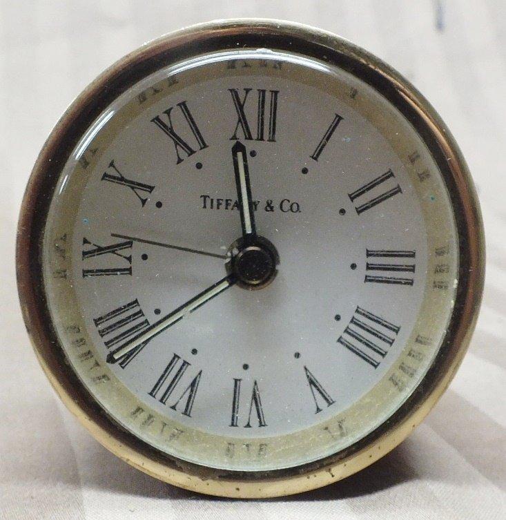 8: Tiffany travel alarm Clock, battery operated