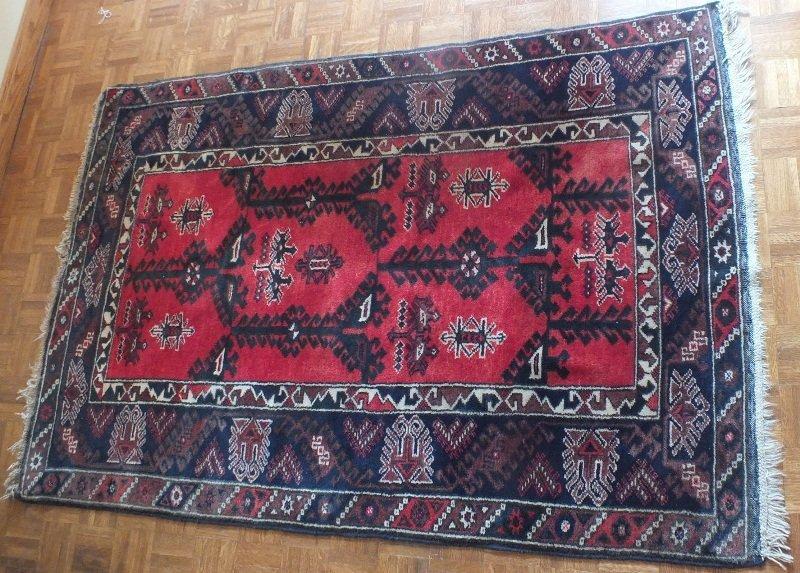 12: Persian rug with Asymmetric design