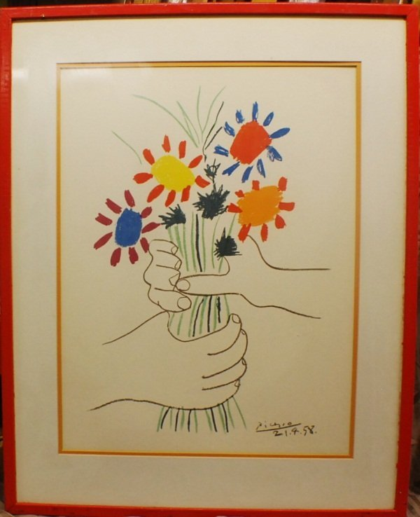 18: Pablo Picasso serigraph, signed and dated in plate.