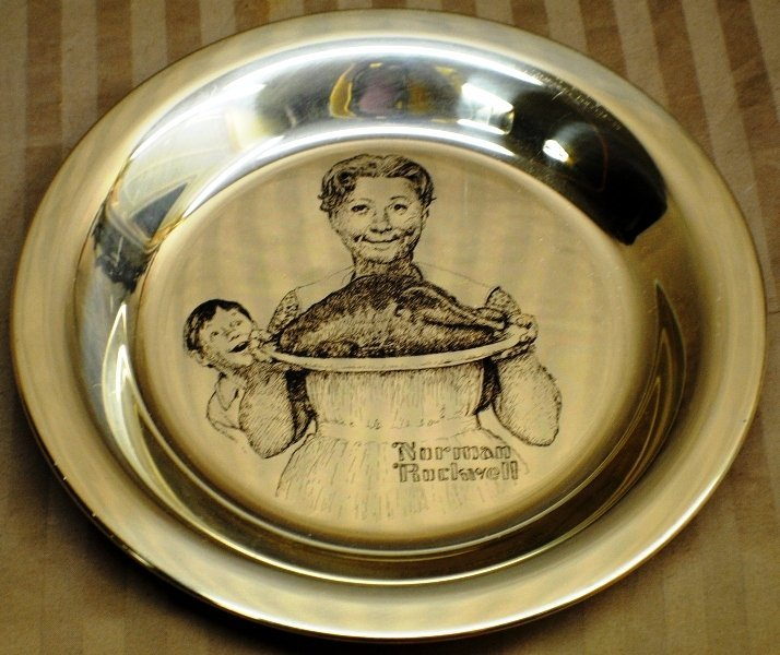 4: 1977 Norman Rockwell Sterling Silver Plate