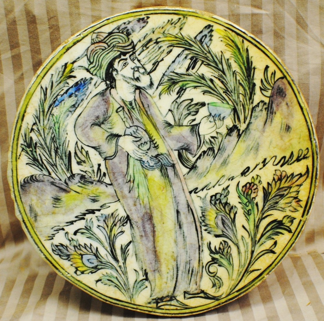 19: Persian painting on round tile