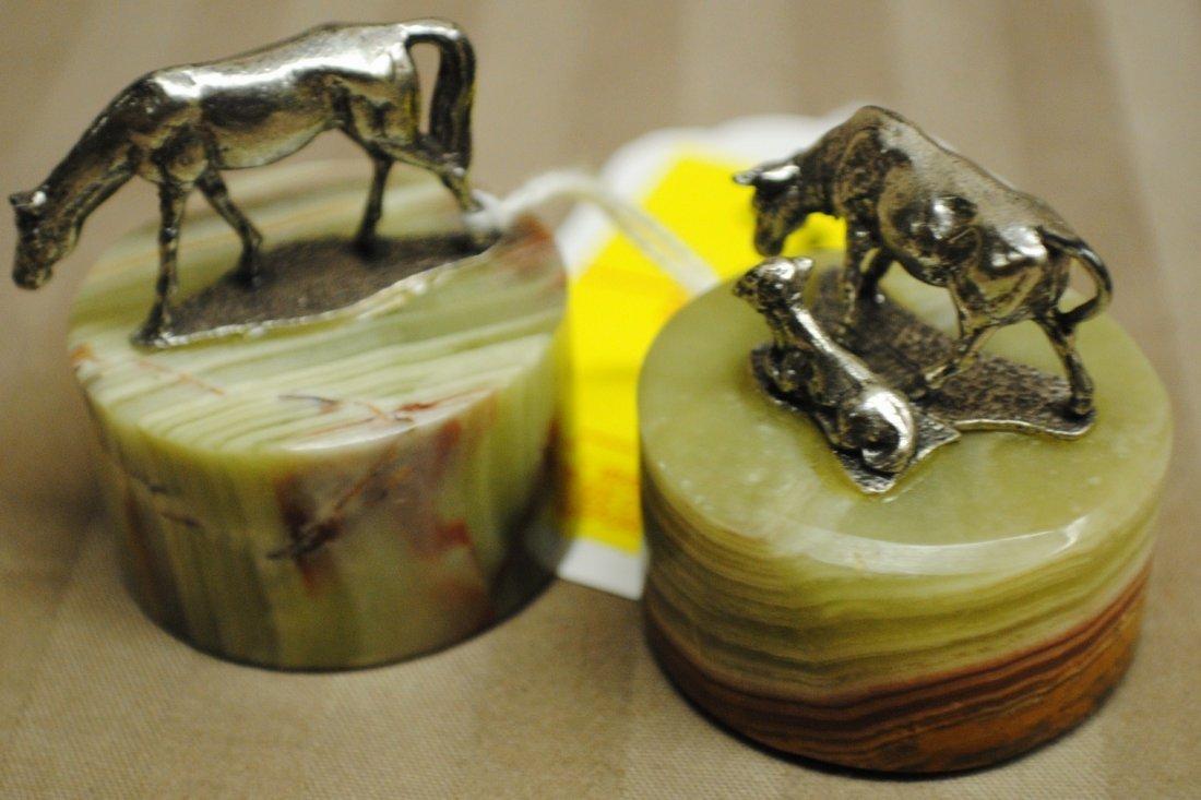 7: Two GORHAM Sterling miniatures by Giuseppe Vassari