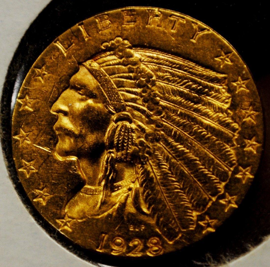 216: 1928 Gold Coin $2.5