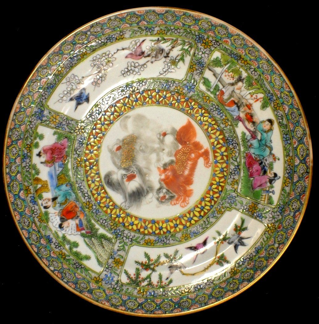 1: Chinese Rose Medallion export plate