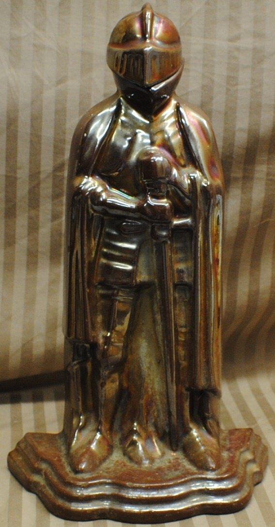 10: Cast metal enameled Knight sculpture