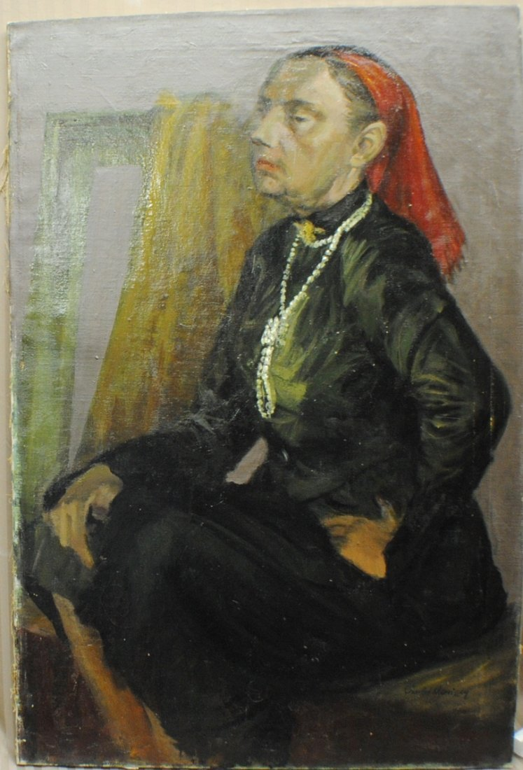 """19: Charles Morrissey """"Portrait of Gipsy Woman"""""""