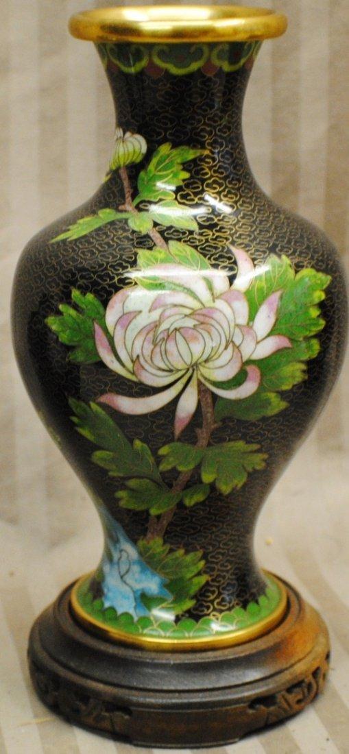 23: Cloisonné vase