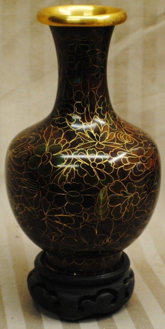 24: Cloisonné vase