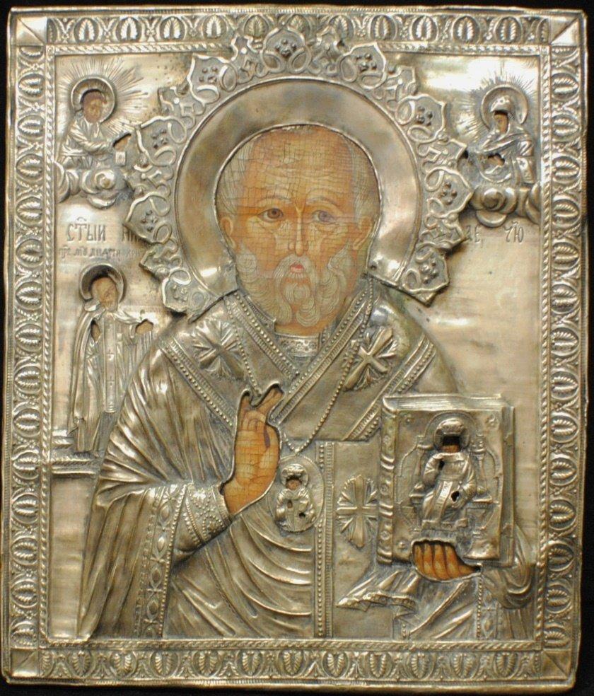 90: 1822 Russian Icon in 84 Silver Oklad