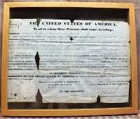 219: President Andrew Jackson 1834 signed original docu