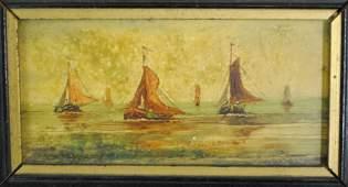 "333: J. Wijnstra (Dutch, early 20'th century) ""Ships in"