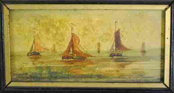 "J. Wijnstra (Dutch, early 20'th century) ""Ships in"