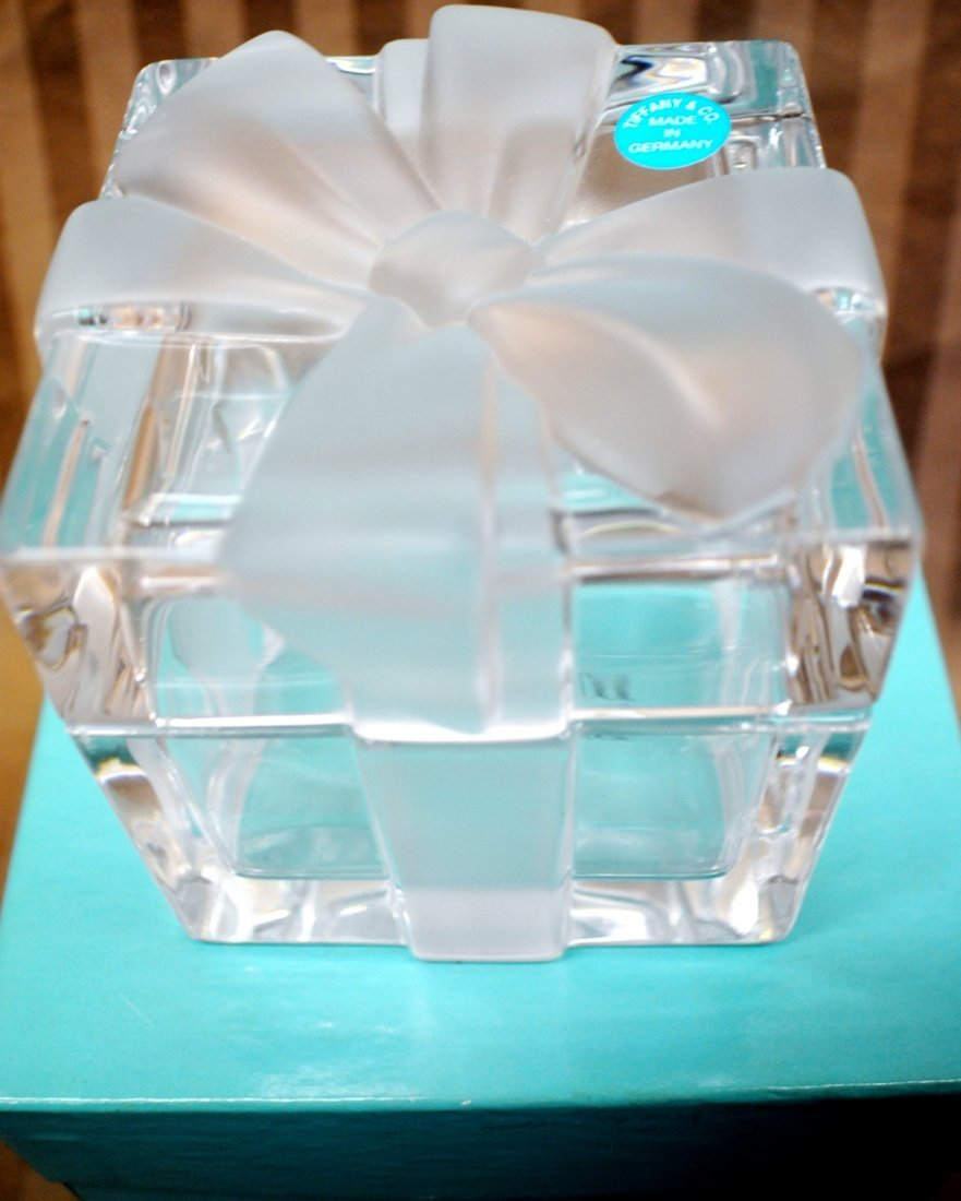 Tiffany crystal jewelry / trinket box