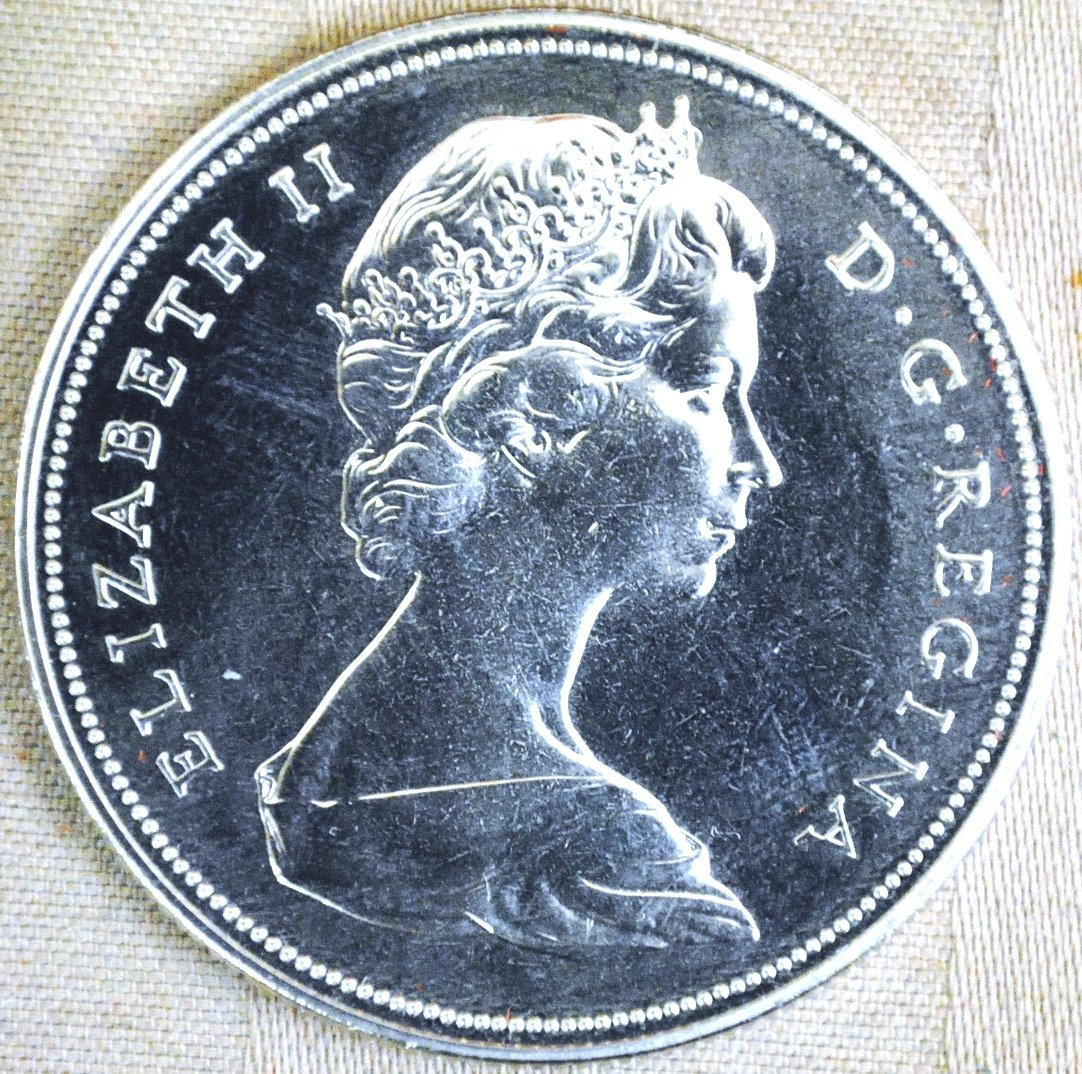 1970 Canadian silver dollar, original case