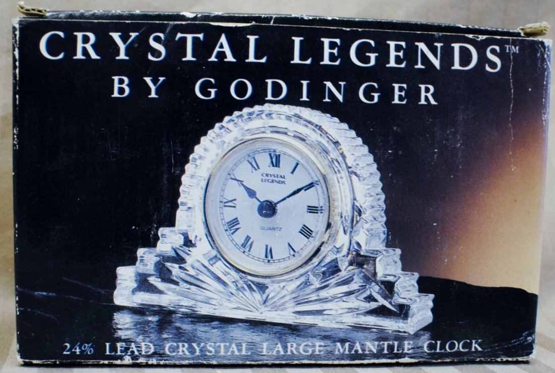 "Godinger ""Crystal Legends"" Crystal clock"