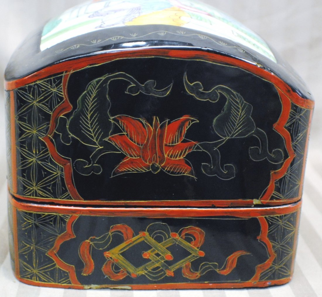 Chinese box with part of antique vessel on the lid