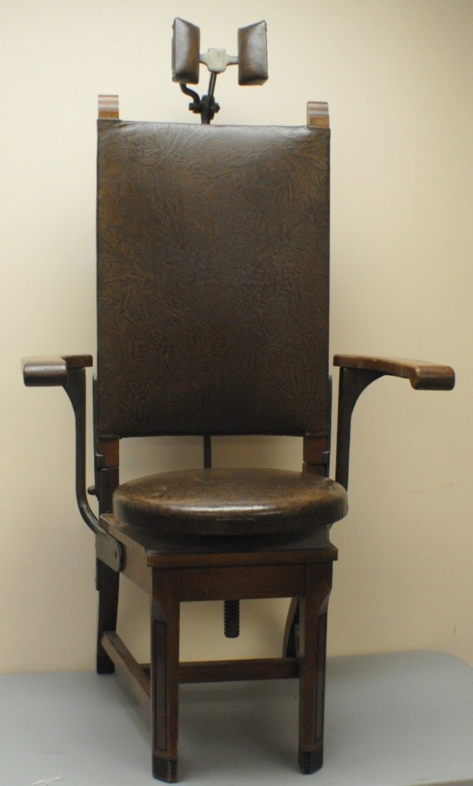 1800 s Dentist chair by W D Allison Co