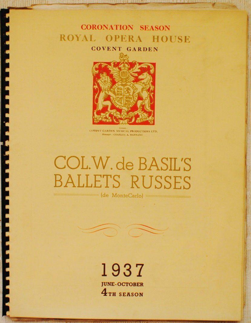 1937 Col. W. de Basil's Ballets Russes booklet