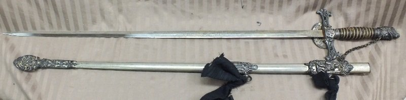 Knights of Pythias Fraternal Sword and  Scabbard